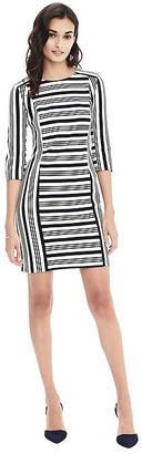 Striped Knit Shift Dress $118 thestylecure.com