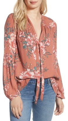 Women's Billabong Birds On High Tie Neck Blouse $49.95 thestylecure.com