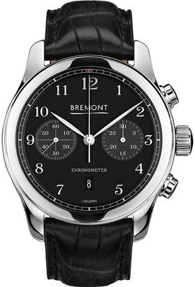 Bremont ALT1-C/PB stainless steel and leather watch