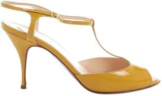 Christian Louboutin Yellow Patent leather Heels