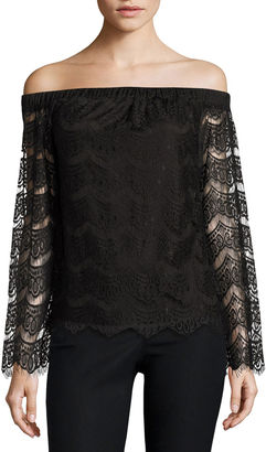 Fire Long Sleeve Knit Blouse-Juniors $46 thestylecure.com