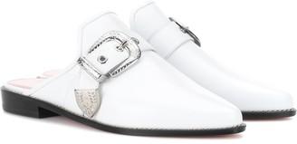 Stuart Weitzman Ryan leather slippers