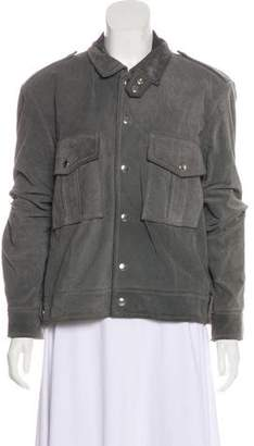 IRO Leather Button-Up Jacket