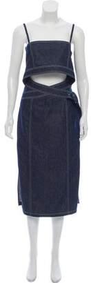 Edun Denim Belted Bustier Dress w/ Tags