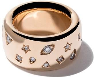 Pomellato 18kt rose gold Iconica wide band diamond ring