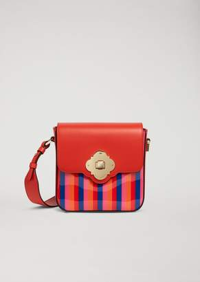 Emporio Armani Crossbody Bag With Multicoloured Stripes