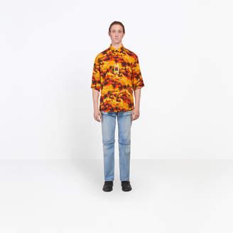 Balenciaga Hawaian printed fluid short sleeves shirt