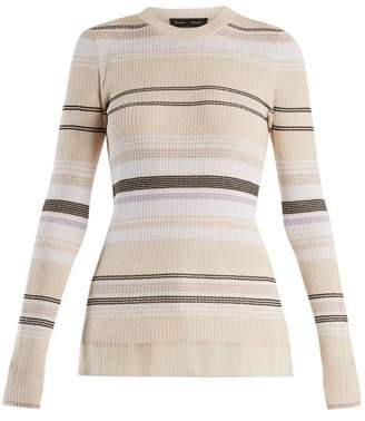 Proenza Schouler Crew neck ribbed-knit striped sweater