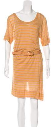 A.L.C. Stripe Mini Dress Orange Stripe Mini Dress