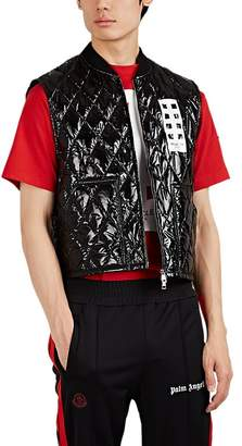 Palm Angels 8 MONCLER Men's Selong Lacquered Down-Quilted Vest
