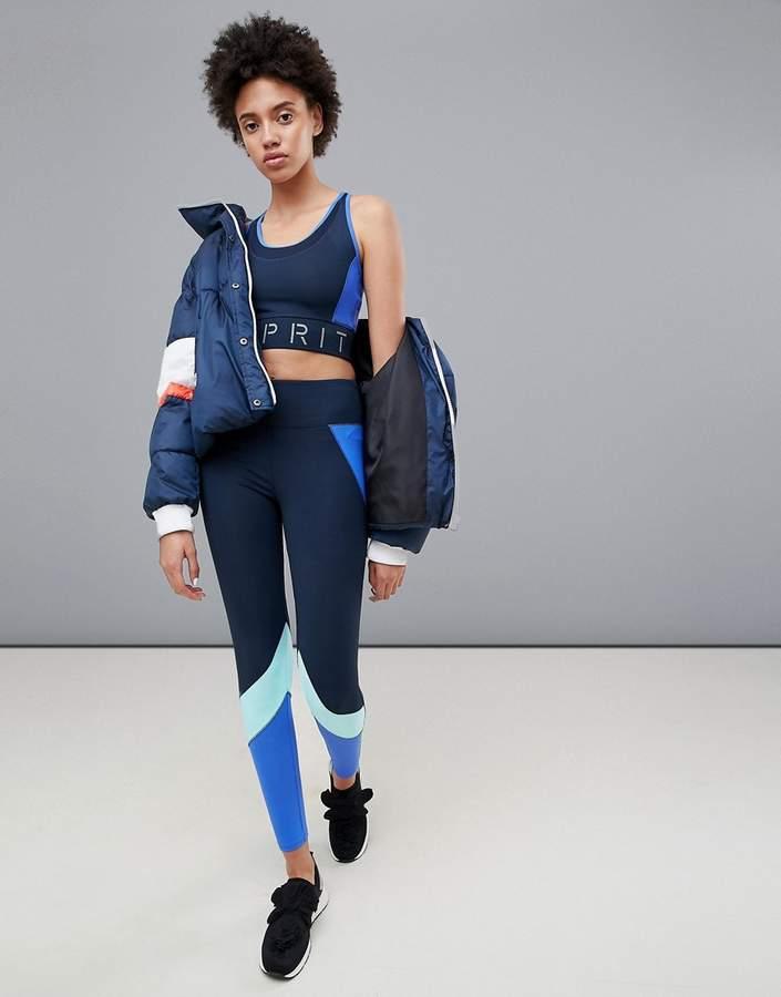 – Sport-Tights in Blockfarben-Design