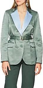 Sies Marjan Women's Terry Jacquard Belted Blazer - Green