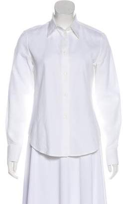 Loro Piana Textured Long Sleeve Button-Up