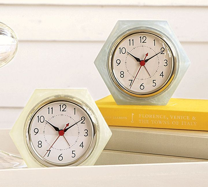 Retro Hexagon Clock