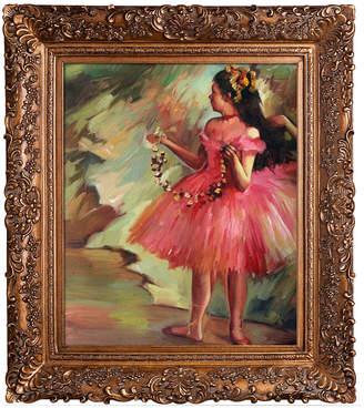 Overstock Art Dancer In Pink Dress By Edgar Degas