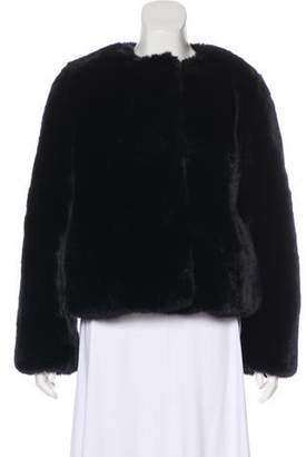 Milly Crew Neck Faux Fur Jacket