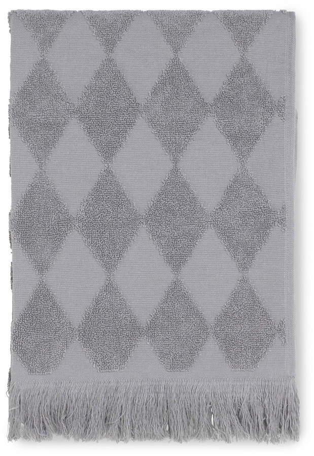 Juna - Diamond Handtuch 50 x 100 cm, Grau