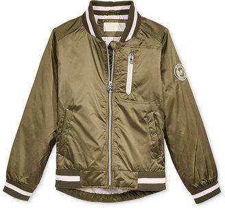 Michael Kors Satin Flight Bomber Jacket, Big Girls (7-16) $85 thestylecure.com