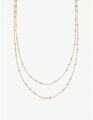Missoma Ltd Double Chain beaded 18ct gold vermeil necklace