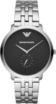 Emporio Armani Three-Hand Stainless Steel Watch