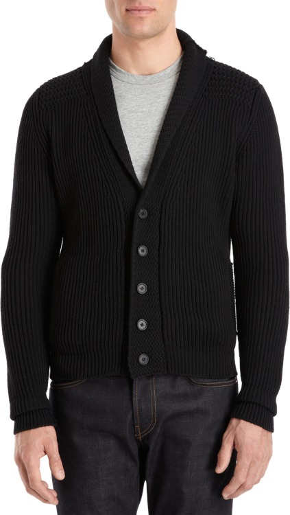 Barneys New York CO-OP Chunky Shawl Cardigan Sale up to 60% off at Barneyswarehouse.com