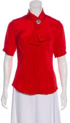 Magaschoni Silk Short Sleeve Top w/ Tags