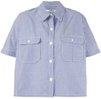 Chalayan striped cape shirt