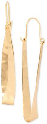 Robert Lee Morris Soho Extra Large Gold-Tone Hammered Oval Hoop Earrings