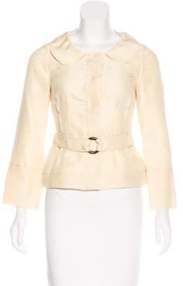 Alberta Ferretti Collared Long Sleeve Jacket