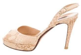 Ralph Lauren Snakeskin Platform Sandals