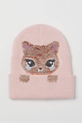 H&M Hat with reversible sequins