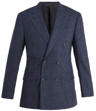 Thom Sweeney - Peak Lapel Wool Blend Blazer - Mens - Blue