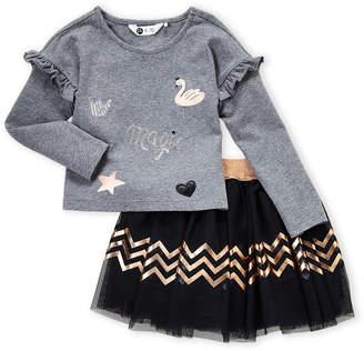 Pl Kids (Toddler Girls) Two-Piece Swan Top & Tutu Skirt Set