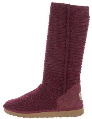 UGG Australia Rib-Knit Knee-High Boots $95 thestylecure.com