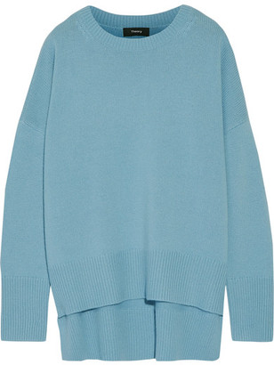 Theory - Karenia Cashmere Sweater - Light blue $425 thestylecure.com