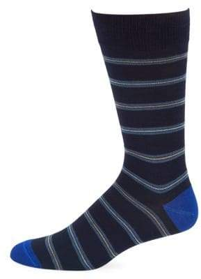Saks Fifth Avenue Tri-Stripe Crew Socks