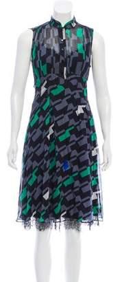 Diane von Furstenberg Finola Silk Knee-Length Dress