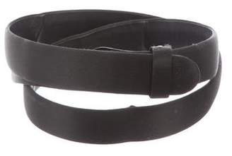 Alexander McQueen Satin Snap Belt