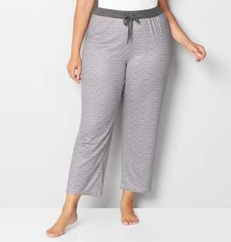 Avenue Grey Striped Lounge Pant