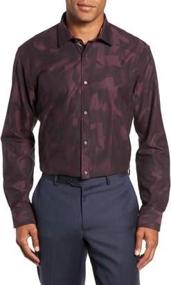 Ted Baker Slissum Slim Fit Print Dress Shirt