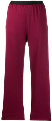 MM6 MAISON MARGIELA cropped high waisted trousers