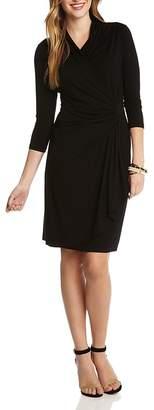 Karen Kane Cascade Faux Wrap Dress $108 thestylecure.com