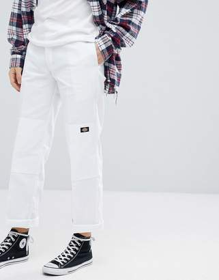 Dickies Double Knee Work Pant White In Loose Fit