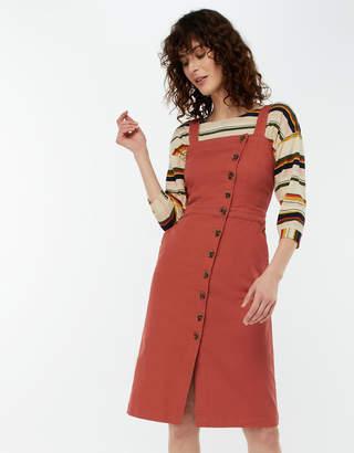 Monsoon Dori Denim Pinafore Dress