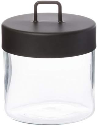 Zakkia Glass Jar, Black, Medium