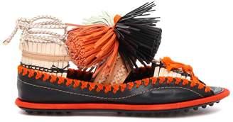 Carven Leather Flat Sandals