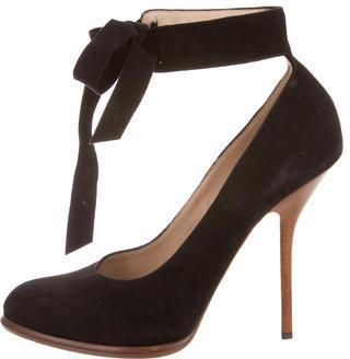 CelineCéline Suede Ankle Strap Pumps