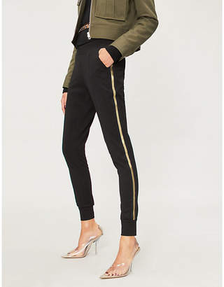 Forever Unique Side-striped stretch-jersey jogging bottoms