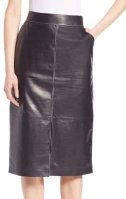 Lafayette 148 New York Adelina Leather Skirt