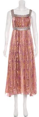 Anna Sui Silk Maxi Dress